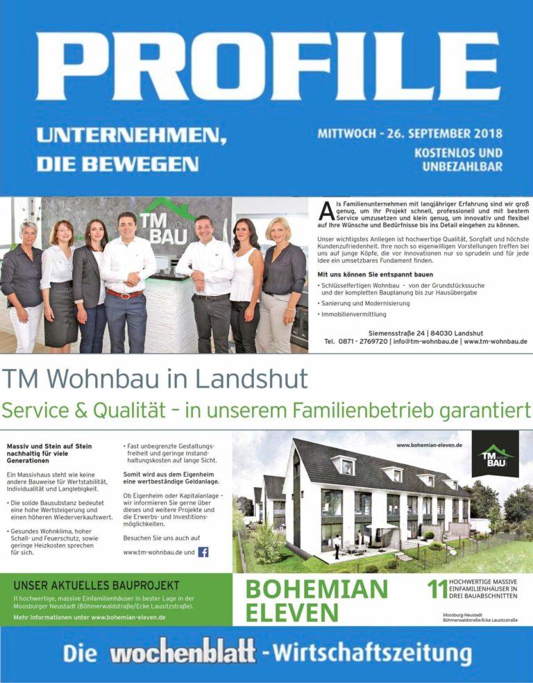 TM Wohnbau Wochenblatt